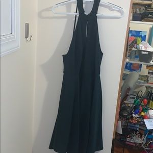 Altr'd State Forest Green Backless Dress